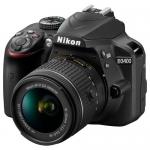 Фотоаппарат зеркальный Nikon D3400 Kit 18-55VR AF-P