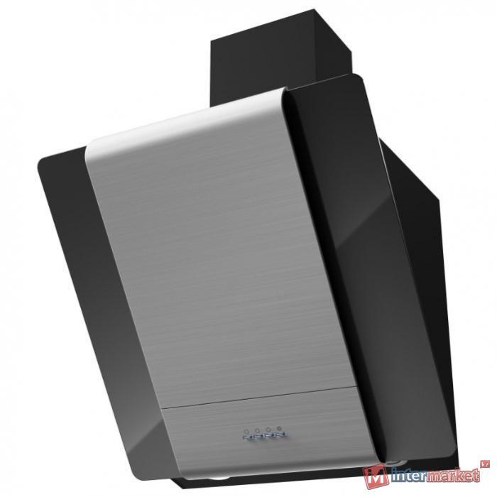 Каминная вытяжка Kronasteel TALLI 600 inox/black glass 3P