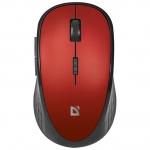 Мышь беспроводная Defender Hit MM-415 6 кнопок,1600dpi, красный, НОВИНКА!